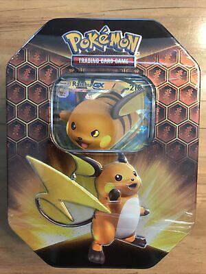 Pokemon Hidden Fates Raichu GX Tin Factory Sealed New