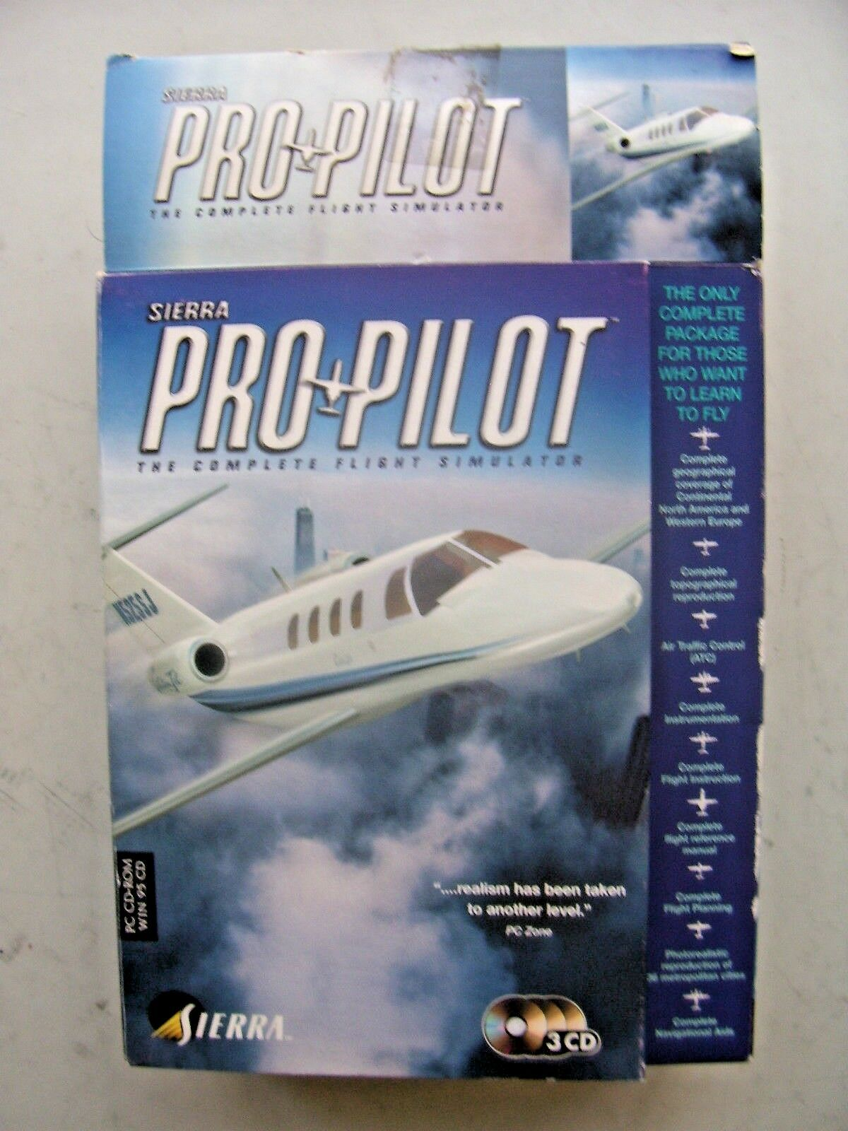 Sierra Pro Pilot 99 (PC: Windows, 1998) - Big Box Edition