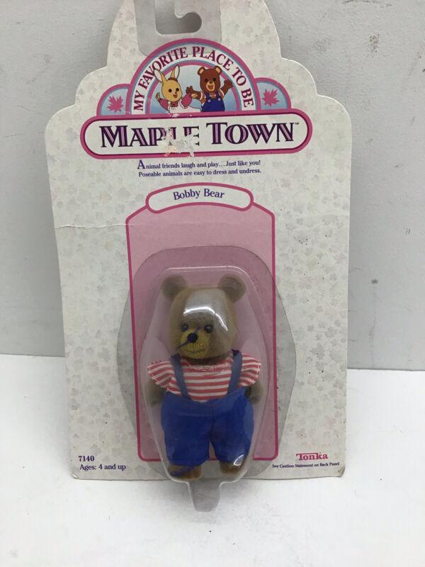 Tonka Calico critters/sylvanian families Vintage Maple Town Bobby Bear NEW