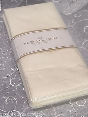 """HOTEL Collection Set of 12 Napkins ~ IVORY ~ 100% cotton 20"""" x 20"""" Free Shipping"""
