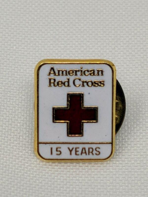 American Red Cross ARC Pin 15 Years 24k GP Bin 8/2