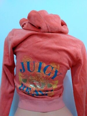 JUICY COUTURE KIDS Size 12 TERRY CLOTHE ZIPPER JACKET