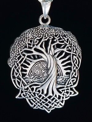Celtic Sun Knotwork Sterling Silver Tree of Life Pendant by peter stone Jewelry