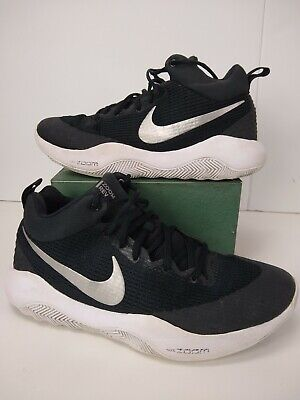b5154819b9f2 Mens Nike Zoom Rev TB Basketball Shoes Sneakers Size 11.5 Black Silver  white EUC
