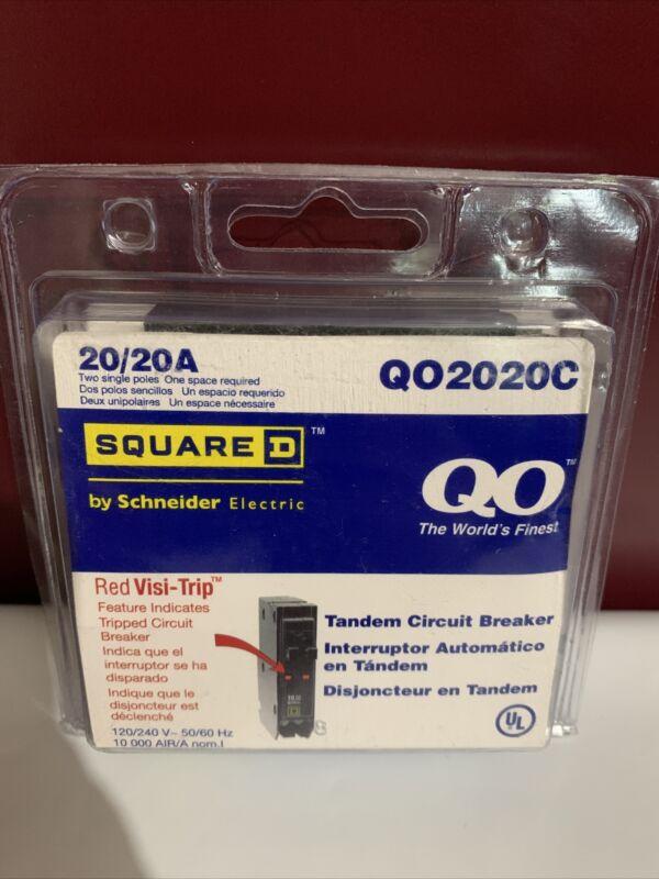 QO, Square D 2-20 Amp Single-Pole Tandem Circuit Breaker (QO2020C)