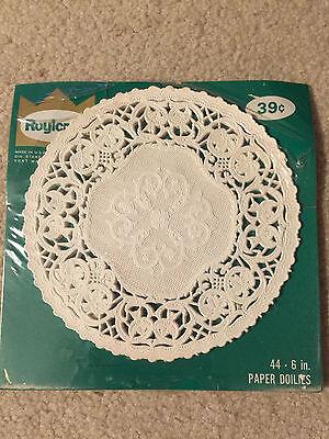 """Roylcraft 22  6""""  Paper Doilies  White Vintage"""