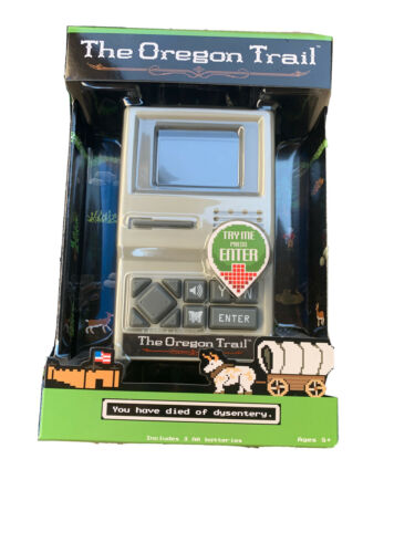 Computer Games - The Oregon Trail Classic Computer Handheld Game New In Box Old School