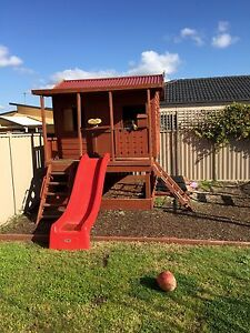 Cubby hut, sand pit, slide, climbing frame, monkey bars, spin bar Alfredton Ballarat City Preview