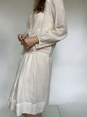 Isabel Marant Étoile Silk and Cotton Cream Summer Dress Net A Porter