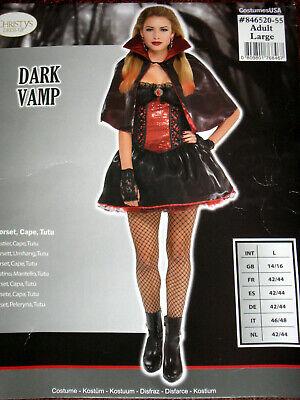 Kostüm Dark Vamp Gr. S, L Vampir Gothic Karneval Amscan (Damen Vampir Kostüm)