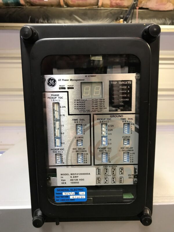 GE Protection and Control Relay MDP4120000DA, 5 AMP, 48/125vdc