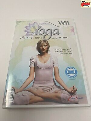 Yoga (Nintendo Wii or Wii U) GAME COMPLETE THE FIRST 100% EXPERIENCE RARE HTF