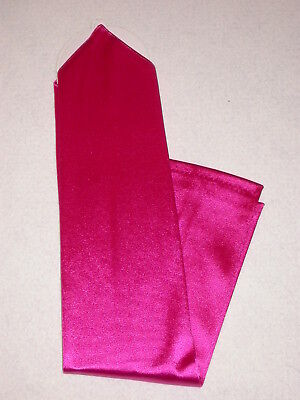 Hot Pink Gloves (NEW! X-Long FUCHSIA / HOT PINK Satin FINGERLESS Nylon GLOVES ~ One Size ~ 18
