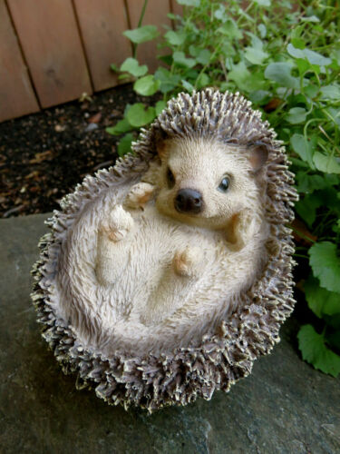 Hedgehog Figurine Resin Ornament  Piglet  Farm Animal New 6 inches H