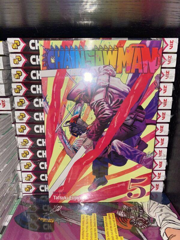 Chainsaw Man Vol. 5 English Sealed Manga By Tatsuki Fujimoto Brand New
