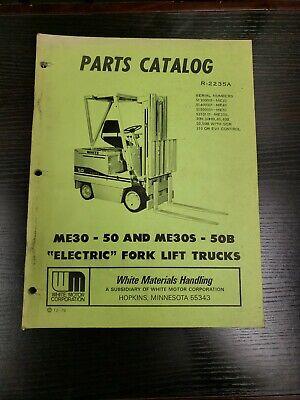 White Forklift Me 30-50 Me30s-50b Parts Catalog Manual