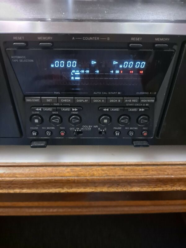 High End SONY TC-WE675 auto-reverse DUAL RECORDING cassette TAPE deck  RARE FIND