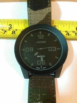 ESTATE  Aero MEN'S Watch NEW BATTERY  CAMOUFLAGE BAND