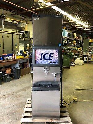 Scotsman C0322sa-1b Ice Machine And Scotsman Id150b-1 Ice And Water Dispenser