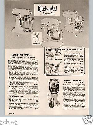 1958 PAPER AD Kitchenaid Electric Food Mixer 3 Models Hobart