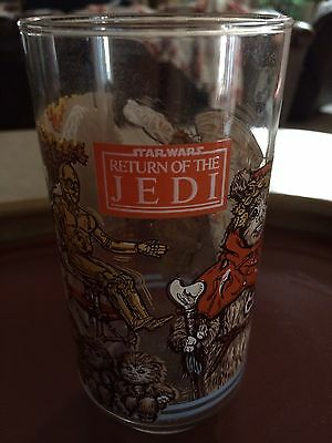 Return of the Jedi Star Wars Ewok Burger King Glass 1983