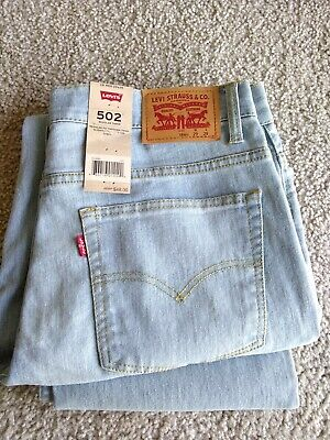 LEVI'S jeans 502 (regular taper), Size - 29/29. Light blue. New with tags.
