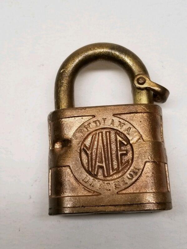 B&O Baltimore and Ohio Railroad Brass Lock Obsolete Indiana Division