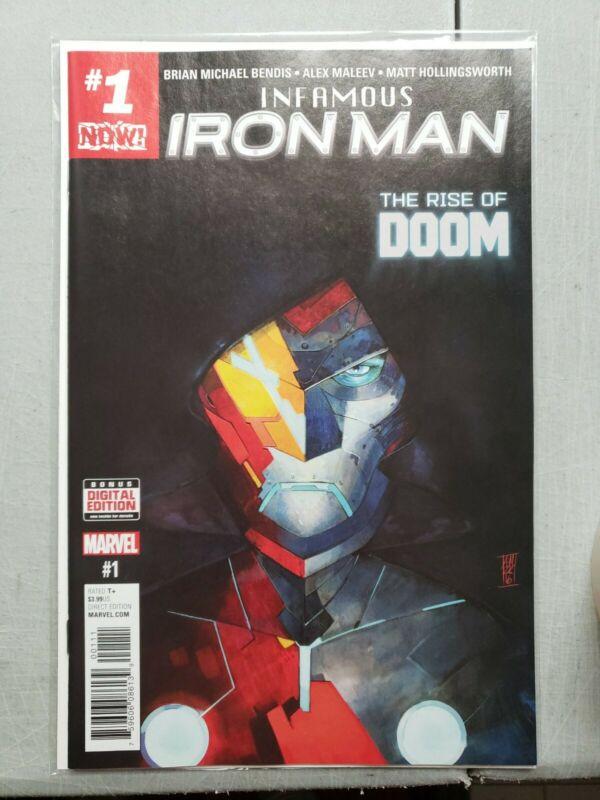 Infamous Iron Man 1 Cover A 1st A.I. Tony Stark & Dr. Doom as Iron Man Marvel