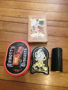 Assorted biscuit tins including arnotts and Harrodsburg Maribyrnong Maribyrnong Area Preview