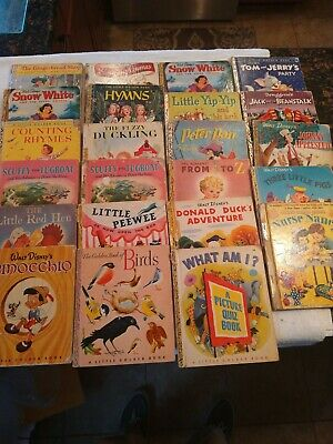 Vintage - A Little Golden Book lot of 23 books original rough condition