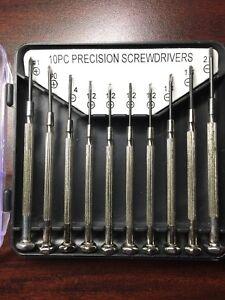 10pc precision screw drivers