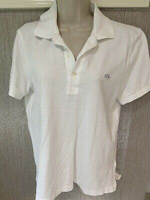 LACOSTE VINTAGE WASHED SOLID White MENS 100% COTTON POLO SHIRT SIZE: 2