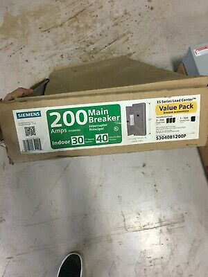 Siemens 200 Amp Panel Panelboard Es Series Load Center Indoor