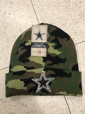 Dallas Cowboys NFL Salute to Service Knit Military Beanie Camo Ski Cap Hat for sale  Shipping to Canada