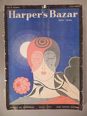 Harper's Bazar - May, 1929 ~~ Erte cover and print ad ~~ Harper's Bazaar