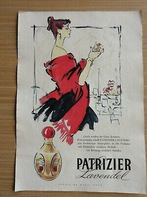 Lavendel Köln (Altes Werbeplakat Parfum Patrizier Lavendel Haus Köln)