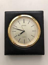 Seiko QQ 542 K Quartz Desk Table Alarm Clock Works Great