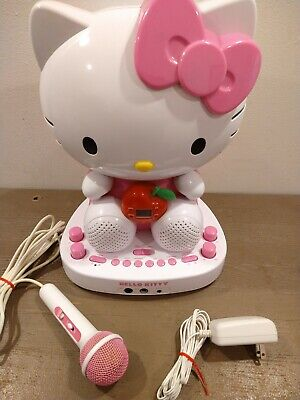 Hello Kitty CD Karaoke System With Built-in Video Camera KT2007 Microphone VIDEO Hello Kitty Karaoke