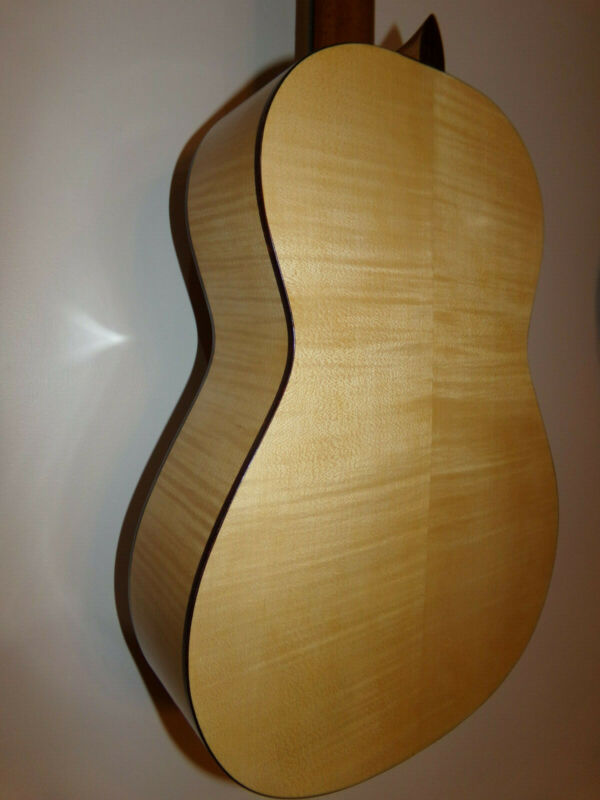 Classical Torres Guitar with Redwood maple built by Dave Dumont