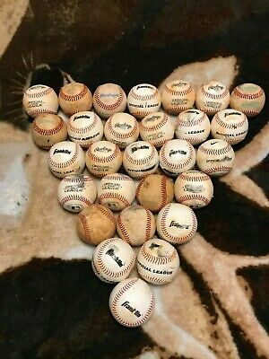 Lot of 28 used baseballs various brands