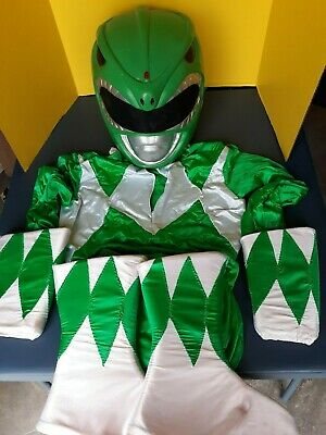 Vintage Green Mighty Morphin Power Rangers big kid/adult Professional costume  Adult Power Ranger Costume