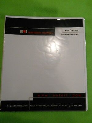 Set 4 White Co Three Ring View Binder 12 Inch With 2 Pockets Business Card