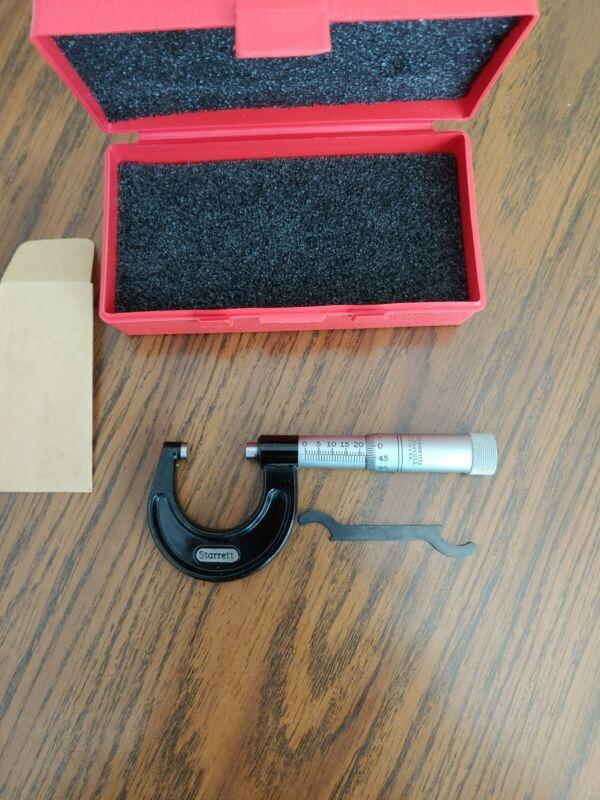 Starrett Micrometer 25MM used