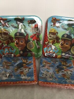 Paw Patrol Party Supplies With Skye Plates Napkins New Sealed For 16
