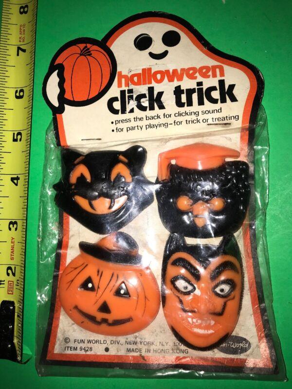 VINTAGE Halloween Fun World Click Trick Mip Pumpkin Devil Cat Hong Kong Read All