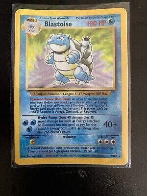 Base Set Blastoise Holo PSA 9 Mint 1999 Pokemon Card #2/102