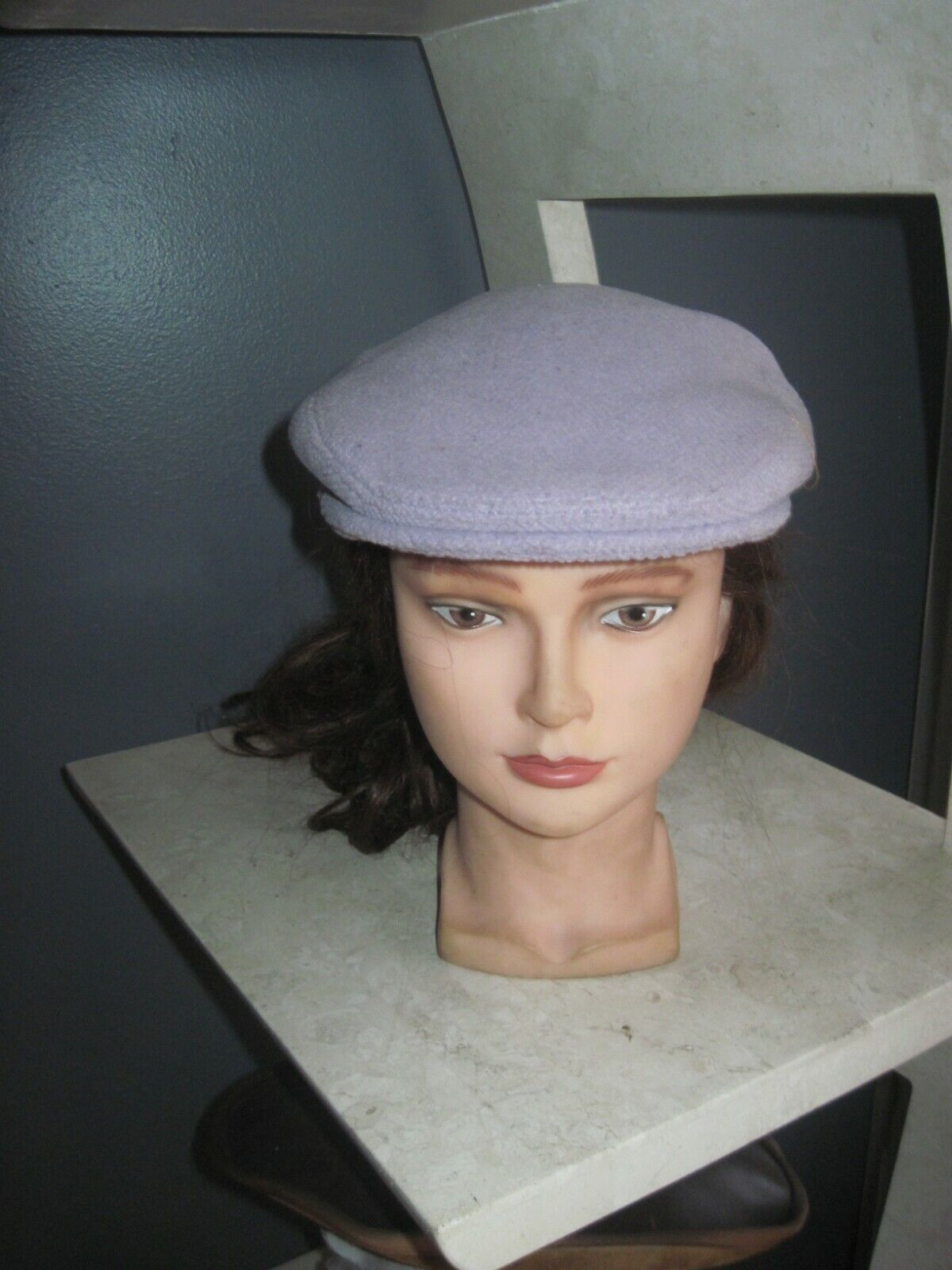 AUTHENTIC WOMEN S BURBERRY WOOL NEWSBOY CABBIE HAT CAP SIZE LILAC  - $32.00