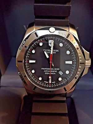 VICTORINOX SWISS ARMY INOX Professional Diver Black Rubber Strap Watch 241733