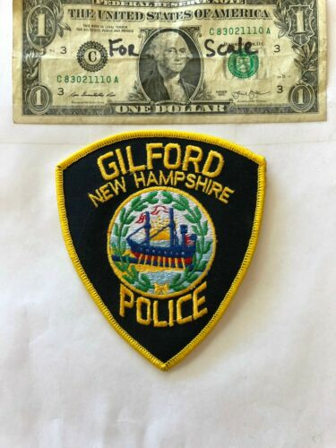 Gilford New Hampshire Police Patch un-sewn in great shape