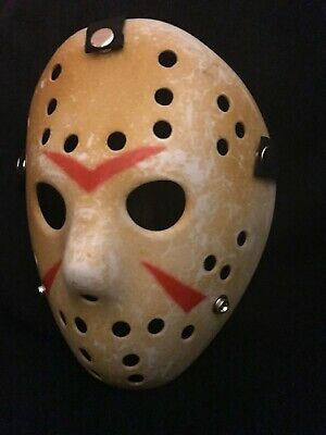 Friday 13 Halloween Costumes (Friday the 13th Hockey Mask Jason Voorhees Halloween Costume US SELLER FAST)